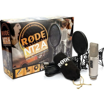 Rode NT2-A Large Diaphragm 3 Polar Pattern Studio Condenser Microphone in India imastudent.com