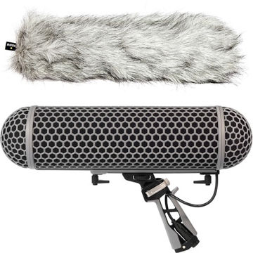 buy Rode Blimp Windshield and Rycote Shock Mount Suspension System for Shotgun Microphones in India imastudent.com