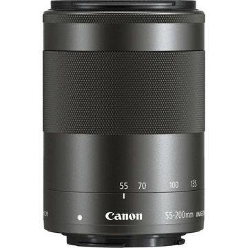 Canon EF-M 55-200mm f/4.5-6.3 IS STM Lens (Black) in India imastudent.com