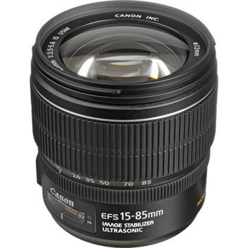buy Canon EF-S 15-85mm f/3.5-5.6 IS USM Lens in India imastudent.com