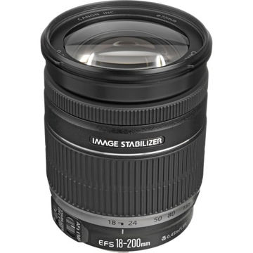 buy Canon EF-S 18-200mm f/3.5-5.6 IS Lens in India imastudent.com