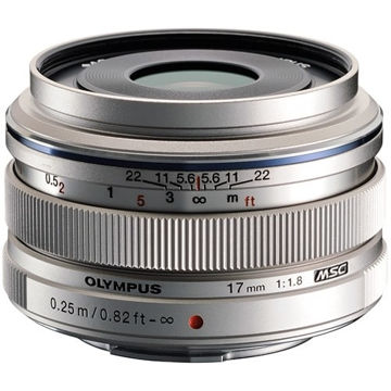 Olympus M.Zuiko Digital 17mm f/1.8 Lens (Silver) in India imastudent.com