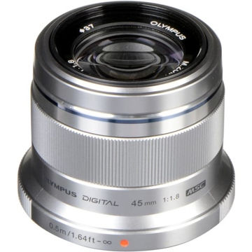 Olympus M.Zuiko Digital 45mm f/1.8 Lens (Silver) in India imastudent.com
