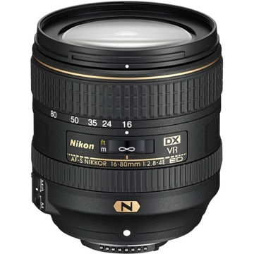 buy Nikon AF-S DX NIKKOR 16-80mm f/2.8-4E ED VR Lens in India imastudent.com