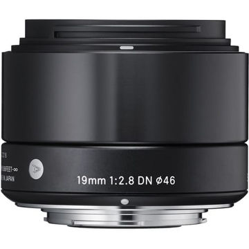 Sigma 19mm f/2.8 DN Lens for Micro Four Thirds Cameras (Black) in India imastudent.com