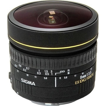 buy Sigma 8mm f/3.5 EX DG Circular Fisheye Lens for Nikon F in India imastudent.com