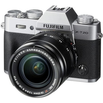 buy Fujifilm X-T20 Mirrorless Digital Camera with 18-55mm Lens (Silver) in India imastudent.com