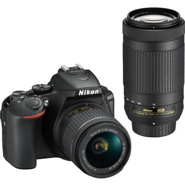 buy Nikon D5600 DSLR Camera with 18-55mm and 70-300mm Lenses in India imastudent.com