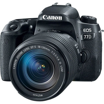 buy Canon EOS 77D DSLR Camera with 18-135mm Lens in india imastudent.com