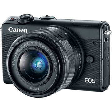 buy Canon EOS M100 Mirrorless Digital Camera with 15-45mm Lens (Black) in india imastudent.com