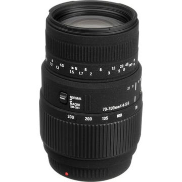 buy Sigma 70-300mm f/4-5.6 DG Macro Lens for Sony and Minolta in India imastudent.com