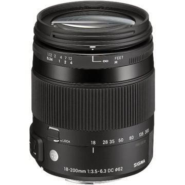 buy Sigma 18-200mm f/3.5-6.3 DC Macro OS HSM Lens For Nikon Digital Cameras in India imastudent.com