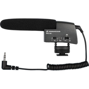 buy Sennheiser MKE 400 Compact Video Camera Shotgun Microphone in India imastudent.com