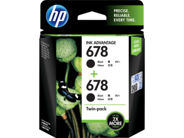 HP 678 2-pack Black Original Ink Advantage Cartridges price in india features reviews specs