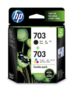 HP 703 2-pack Black/Tri-color Original Ink Advantage Cartridges price in india features reviews specs