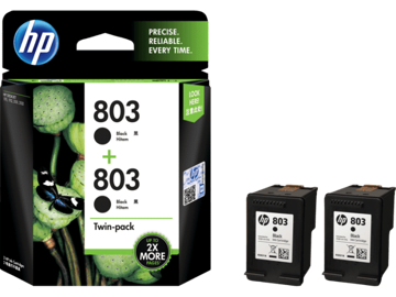 HP 803 2-pack Black Original Ink Cartridges price in india features reviews specs