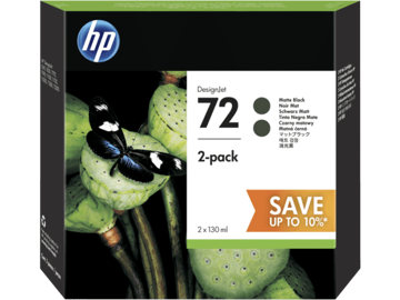 HP 72 2-pack 130-ml Matte Black DesignJet Ink Cartridges price in india features reviews specs