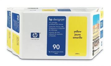 HP 90 Value Pack 400-ml yellow DesignJet Ink Cartridge and Printhead price in india features reviews specs