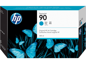 HP 90 3-pack 400-ml Cyan Ink Cartridges price in india features reviews specs