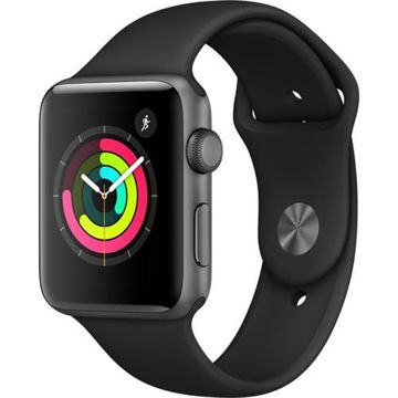 Apple Watch Series 3 42mm Smartwatch (GPS Only, Space Gray Aluminum Case, Black Sport Band) price in india features reviews specs