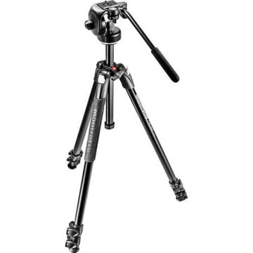 Manfrotto 290 Xtra Aluminum Tripod with 128RC Micro Fluid Video Head price in india features reviews specs