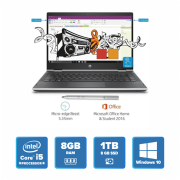 HP Pavilion 14-cd0080TU x360 (Natural Silver) price in india features reviews specs
