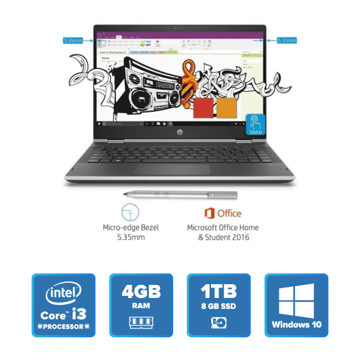 HP Pavilion 14-cd0077TU x360 (Natural Silver) price in india features reviews specs