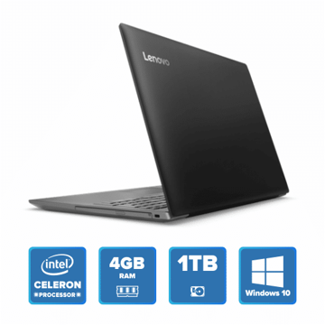 Lenovo IdeaPad 320 - N3350 Win 10 4GB 1TB HDD (Onyx Black) price in india features reviews specs