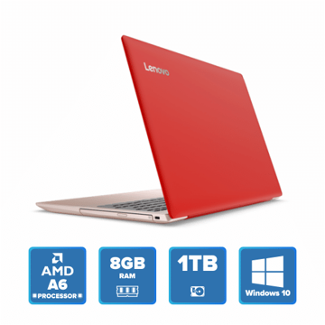 Lenovo IdeaPad 320 - N3350 Win 10 8GB 1TB HDD (Coral Red) price in india features reviews specs