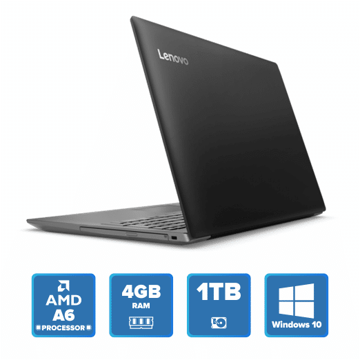 Lenovo IdeaPad 320 - A6 Win 10 4GB 1TB HDD (Onyx Black) price in india features reviews specs