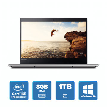 Lenovo IdeaPad 320 Slim - i3 Win 10 8GB 1TB HDD (Mineral Grey) price in india features reviews specs