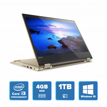 Lenovo Yoga 520 Convertible - i3 Win 10 4GB 1TB HDD (Gold Metallic) price in india features reviews specs