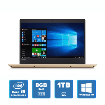 Lenovo IdeaPad 520 Slim - i5 Win 10 8GB 1TB HDD (Golden) price in india features reviews specs