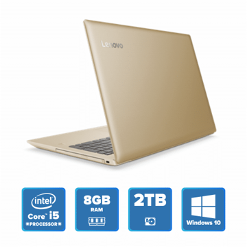 Lenovo IdeaPad 520 - i5 Win 10 8GB 2TB HDD (Golden) price in india features reviews specs