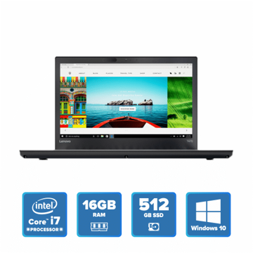 Lenovo ThinkPad T470 - i7 Win 10 16GB 512GB SSD (Black) price in india features reviews specs