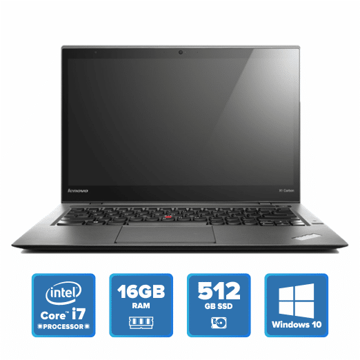 Lenovo ThinkPad X1 Carbon - i7 Win 10 16GB 512GB SSD (Black) price in india features reviews specs