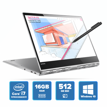 Lenovo Yoga 920 Convertible - i7 Win 10 16GB 512GB SSD (Platinum) price in india features reviews specs