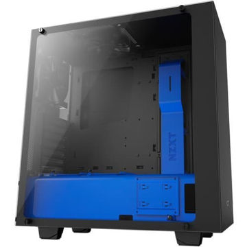 NZXT S340 CPU Cabinet - CA-S340W-B5 (Black/Blue) price in india features review specs