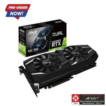 ASUS Gaming GeForce RTX 2080 Ti DUAL OC 11GB Graphic Card price in india features reviews specs