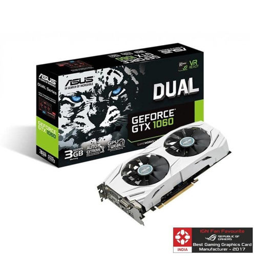 Asus Pascal Series GTX 1060 DUAL EDITION 3GB Graphic Card price in india features reviews specs
