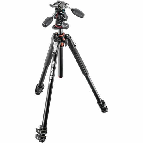 buy Manfrotto MK190XPRO3-3W Aluminum Tripod with 3-Way Pan/Tilt Head in India imastudent.com
