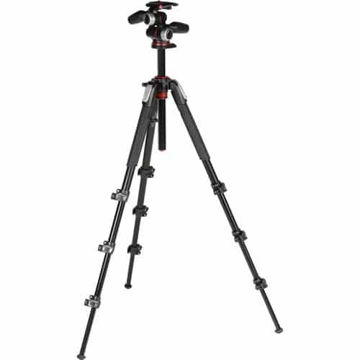 Manfrotto MK190XPRO4-3W Aluminum Tripod with 3-Way Pan/Tilt Head price in india features reviews specs