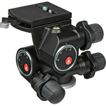 Manfrotto 410 3-Way, Geared Pan-and-Tilt Head with 410PL Quick Release Plate price in india features reviews specs