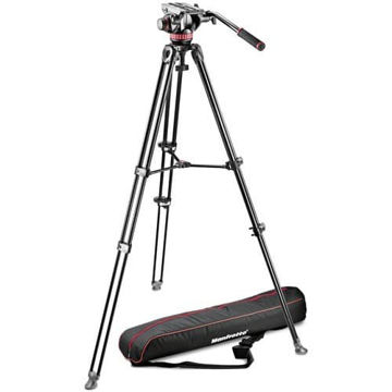 buy Manfrotto MVH502A Fluid Head and MVT502AM Twin Leg Tripod in India imastudent.com