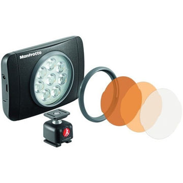 buy Manfrotto Lumimuse 8 On-Camera LED Light (Black) in India imastudent.com
