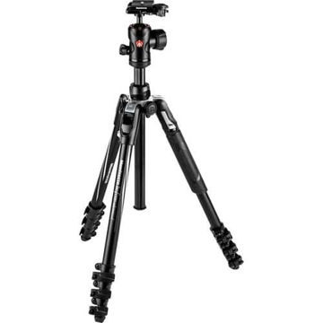 buy Manfrotto Befree Advanced Travel Aluminum Tripod with 494 Ball Head (Lever Locks, Black) in India imastudent.com