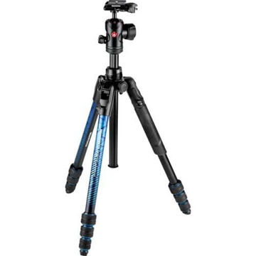 buy Manfrotto Befree Advanced Travel Aluminum Tripod with 494 Ball Head (Twist Locks, Blue) in India imastudent.com