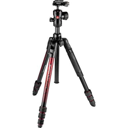 buy Manfrotto Befree Advanced Travel Aluminum Tripod with 494 Ball Head (Twist Locks, Red) in India imastudent.com