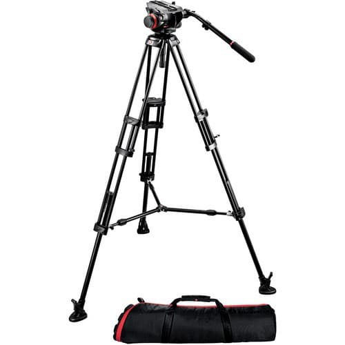 buy Manfrotto 504HD Head w/546B 2-Stage Aluminum Tripod System in India imastudent.com