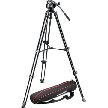 buy Manfrotto Tripod with fluid video head Lightweight with Side Lock in India imastudent.com